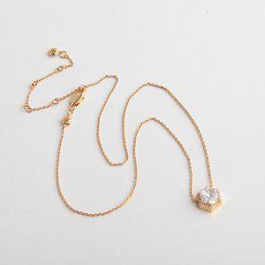 Henri Bendel Glitter Diamond Polygon Necklace